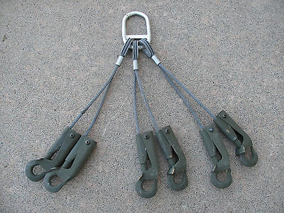 USA Military Heavy Duty Lifting Straps with 6 Safety Hooks & 5400 lb. Capacity
