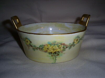 Limoges France Butter Tub with Insert