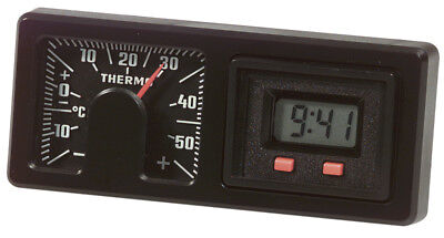 Historische RICHTER Digital Auto Quarzuhr mit Bimetall Thermometer HR Art. 7260