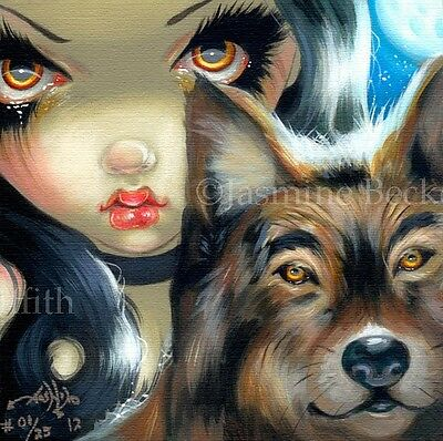 Turtle Faces of Faery 237 Jasmine Becket-Griffith art CANVAS PRINT Fairy Glasses