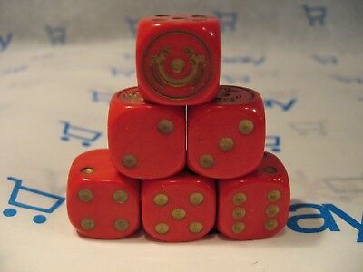 Lord of the Rings LOTR TMG Combat Hex Dice - Red Rohirrim (Solid) x 6