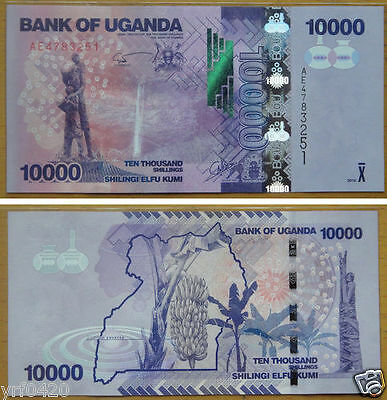 Uganda Paper Money 10000 Shillings 2010 UNC