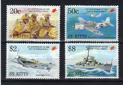 1995 St Kitts World War 2 4 Values SG435-438 Unmounted Mint Ref: MCPJ136