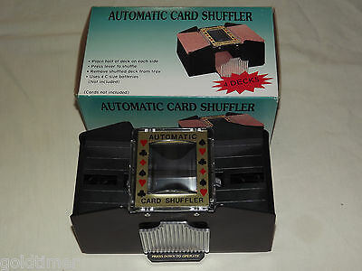 Poker Blackjack Games Automatic Card Shuffler 4 Decks Unused In Box