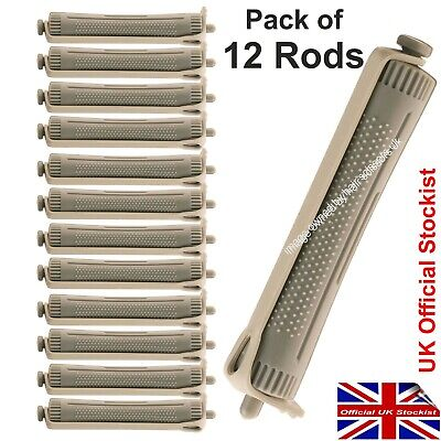 Perm Curler Rods Rollers Perming Hair Large GREY Pack of 12 Professional