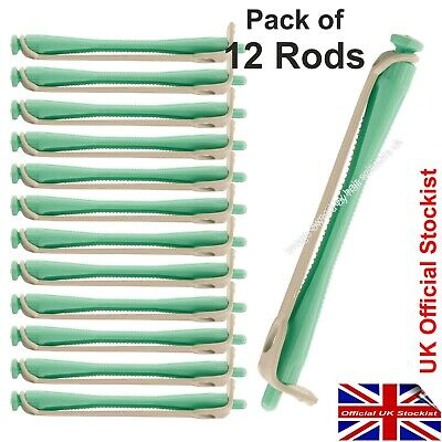 Perming Curler Rods Perm Rollers To Perm Hair GREEN Perm Rollers. Pack of 12