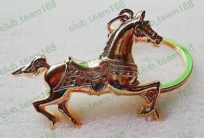 Wholesale Lots 18Pcs Fashion Jewelry Exquisite Horse Gold P Alloy Key Ring FREE