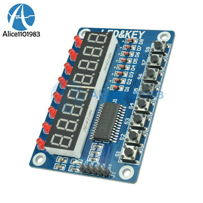 8-Bit LED 8-Bit Digital Tube 8 KeyS TM1638 Display module for AVR Arduino ARM