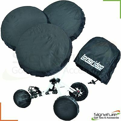 Universal 3 or 4 Elasticated Golf Trolley Wheel Covers - Pull or Electric