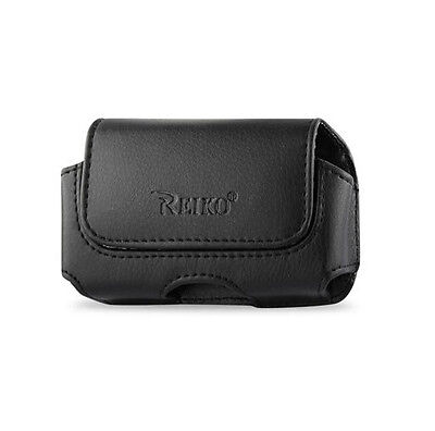 Reiko Horizontal Leather Case Holster Phone Holder Clip w Belt Loops Pouch Cover