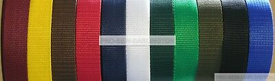 Polypropylene Strap Webbing ( Choice Of Colours & Sizes )