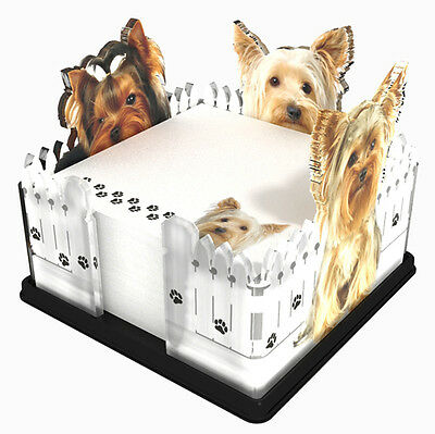 Yorkie Dog Breed Acrylic Note Holder Memo Note Pad Made in USA