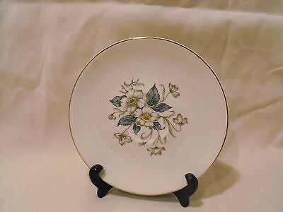 Knowles Usa    Saucer   White Dogwood Pattern With Gold Edge Trim