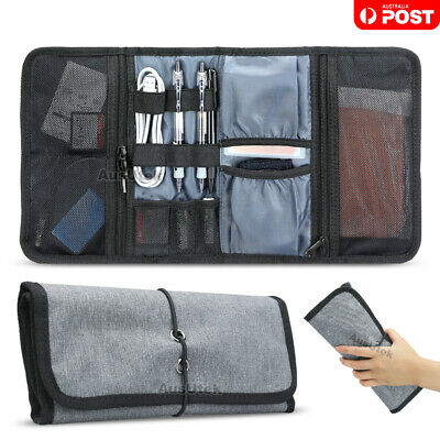 AU Electronic Accessories Cable Organizer Bag Travel USB Charger Storage Case