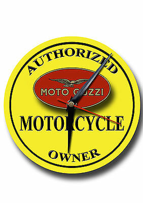 AUTHORIZED MOTO GUZZI MOTORCYCLE OWNER  METAL CLOCK