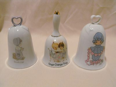 Lot Three(3)  Precious Moments Bells Touched Hearts - Prayer Changes -  November