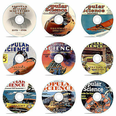 Classic Popular Science Magazine, Our 9 DVD Complete Set, 1872-1963, 1086 issues