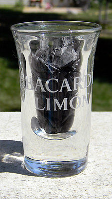 New Etched Ron Bacardi Limon Rum Shot Glass