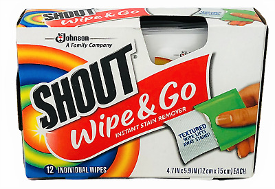 Shout Wipe & Go Instant Stain Remover Wipes 12 count