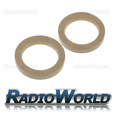 "5.25"" 130mm 18mm Thick MDF Speaker Spacer Mounting Rings ID 116mm ED 155mm Pair"