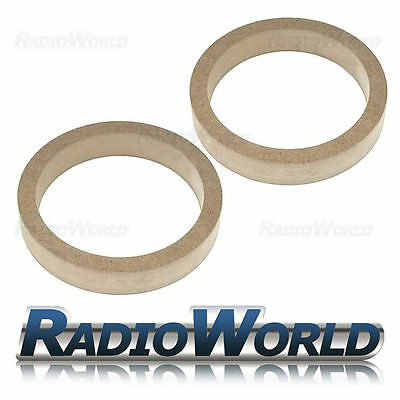 """6.5"""" 165mm MDF Speaker Spacer Mounting Rings 30mm Thick ID 144mm ED 167mm Pair"""