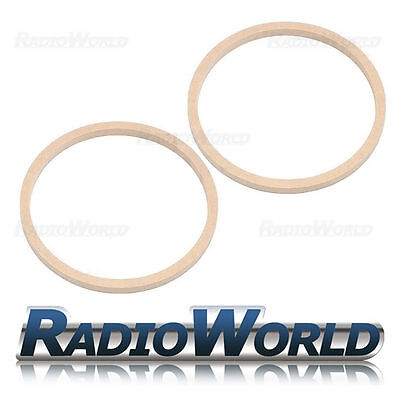 """8"""" 200mm MDF Speaker Spacer Mounting Rings 12mm Thick ID 182mm ED 202mm Pair"""