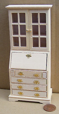 1:12 Scale Natural Finish Wood Book Case Bureau Tumdee Dolls House Accessory 127