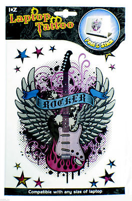 Laptop Tattoo Skins ROCKER Design Peel & Stick NEW Wholesale Job Lot 12