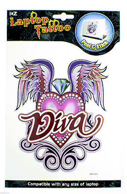 Laptop Tattoo Notebook Skins Pink DIVA Design NEW Wholesale Job Lot 12