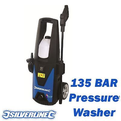 New Silverline 135 Bar 1400W Jet Washer / Pressure Washer Car Patio Cleaner