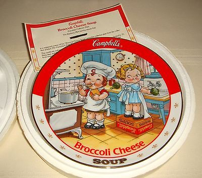 Danbury Mint Campbell Soup Kids Whip Up Great Taste BROCCOLI CHEESE SOUP Plate