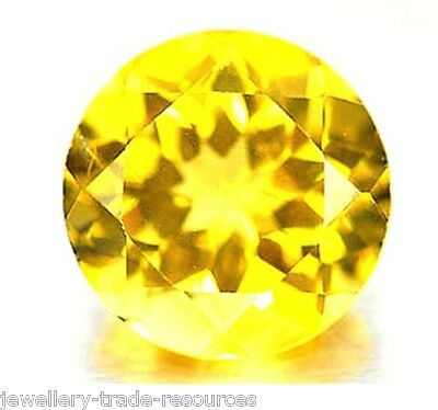 20mm ROUND NATURAL PALE YELLOW CITRINE GEM GEMSTONE