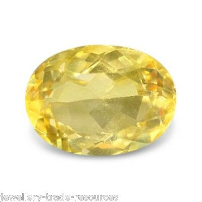 9mm x 7mm OVAL NATURAL YELLOW CITRINE GEM GEMSTONE