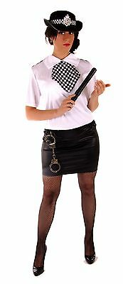 Fancy Dress Costume Wpc Police Lady/woman Set Med 10-12-14