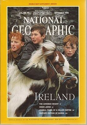 National Geographic Magazine September 1994 With Supplement-Double Map of Mexico
