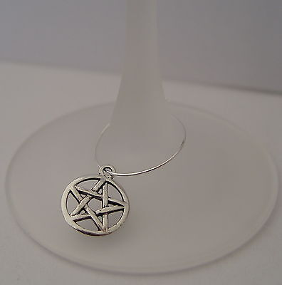 PERSONAL SIMPLE SILVER WINE GLASS PENTACLE JEWELLERY Wicca Pagan Witch Goth