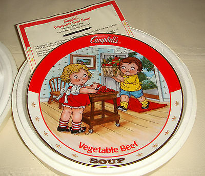Danbury Mint Campbell Soup Kids All American Delicious VEGETABLE BEEF SOUP Plate
