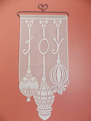 Home Decor HERITAGE LACE WHITE HEARTS COME HOME FOR CHRISTMAS BANNER NWOT 12X20 ITEM 7046 Other Home Decor