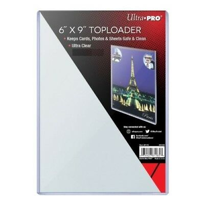 "(10) Ultra Pro 6x9 Toploaders 6"" x 9"" Topload Rigid Card Holders Photo Postcard"