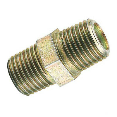 """Draper/PCL Air Line Tools 1/4"""" BSP Male To Male Connector Fitting Gender Changer"""