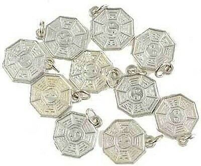 10 x I CHING CHARMS 12 mm Wicca Witch Reiki Pagan Goth New Age Buddha Yoga CHINA