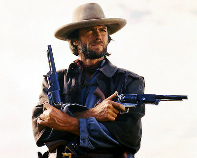 Clint Eastwood The Outlaw Josey Wales Classic Two Guns Pose16X20 Photo