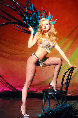 Traci Lords Sexy Showgirl Costume Leggy Pose 24X36 Poster