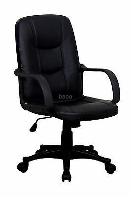 BAOO Faux PU Leather Executive Swivel Computer Desk Office Chair