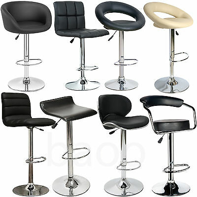 2 BAOO Faux PU Leather Metal Base Kitchen Breakfast Bar Stools Dining Room Chair