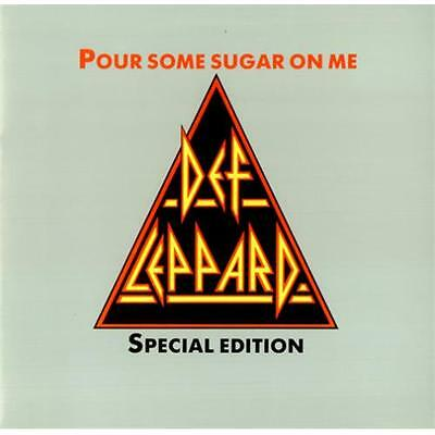DEF LEPPARD Pour Some Sugar On Me 1987 UK 2-track triangular PICTURE DISC