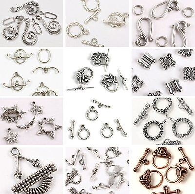Wholesale Bronze Silver Golden OT Toggle Hook Clasps For Findings DIY Jewelry