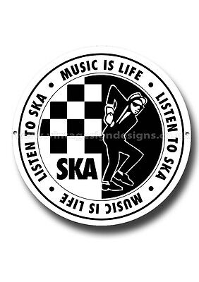 Ska Music Round Metal Sign.2 Tone,mods,mods And Rockers.cult Music.