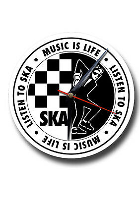 Ska Music Round Metal Clock