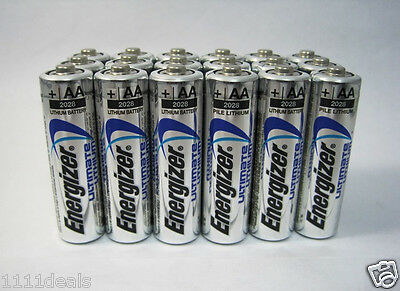 36 FRESH NEW AA Energizer Ultimate Lithium L91 Batteries EXP 2038